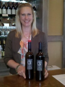 "Emily Pelton and ""3"" wine"